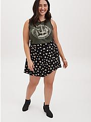 Black Ditsy Floral Challis Skort , FLORALS-BLACK, alternate