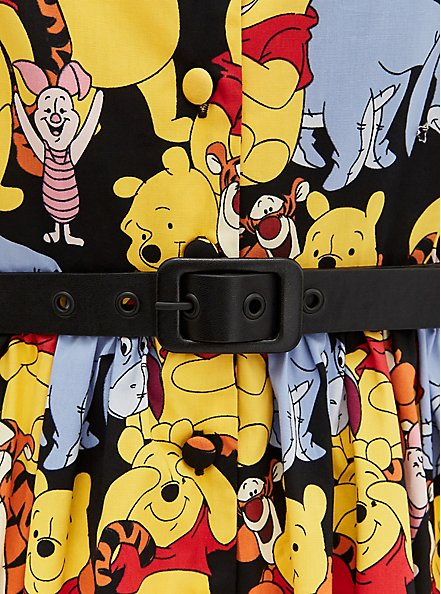Disney Winnie The Pooh & Friends Multi Belted Swing Dress, MULTI, alternate