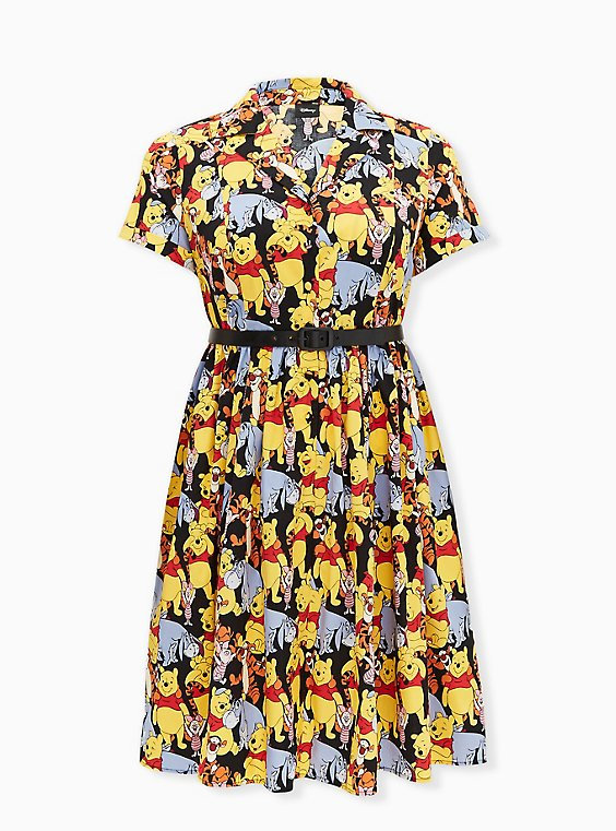 Disney Winnie The Pooh & Friends Multi Belted Swing Dress, , hi-res
