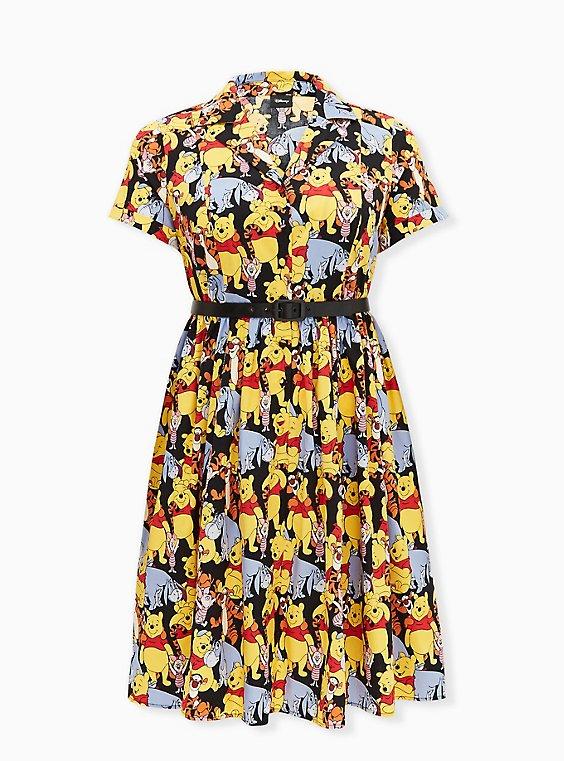 Disney Winnie The Pooh & Friends Multi Belted Swing Dress, MULTI, hi-res