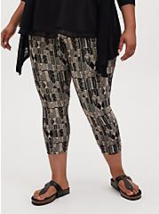 Crop Premium Legging - Geo Black, MULTI, alternate