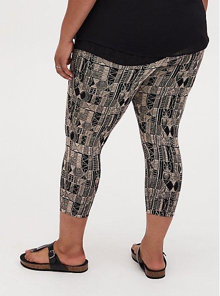 Crop Premium Legging - Geo Black, MULTI, alternate