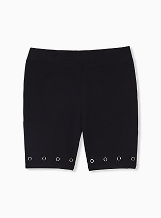 Black Grommet Bike Short, BLACK, hi-res
