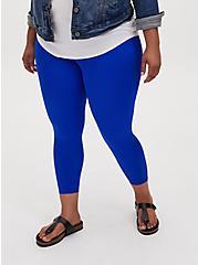 Crop Premium Legging - Liquid Electric Blue, BLUE, alternate