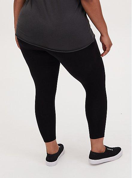 Crop Premium Legging - Stud Skull Black, BLACK, alternate