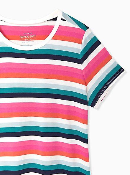 Slim Fit Crew Tee - Super Soft Stripe Multi, PLAYFUL STRIPE, alternate
