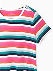 Slim Fit Crew Tee - Super Soft Stripe Multi, PLAYFUL STRIPE, alternate