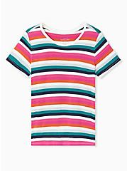 Slim Fit Crew Tee - Super Soft Stripe Multi, PLAYFUL STRIPE, hi-res