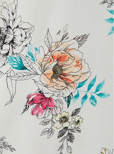 Perfect Tee - Super Soft Floral White , CLOUD DANCER, alternate
