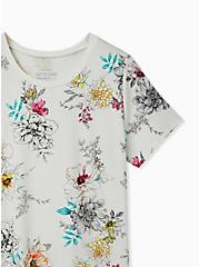 Perfect Tee - Super Soft Floral White , CLOUD DANCER, alternate