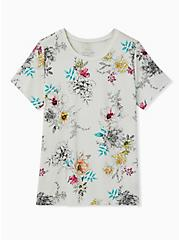 Perfect Tee - Super Soft Floral White , CLOUD DANCER, hi-res