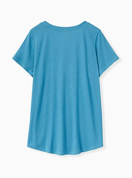 Classic Fit V-Neck Tee - Heritage Cotton Blue, FAIENCE, alternate