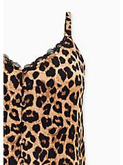 Leopard Studio Knit Button Front Swing Cami, LEOPARD, alternate