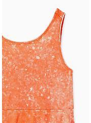 Plus Size Super Soft Rib Coral Mineral Wash Peplum Tank , LIVING CORAL, alternate