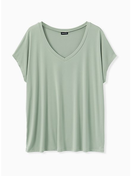Sage Green Studio Knit Dolman Tee, SEAGRASS, hi-res
