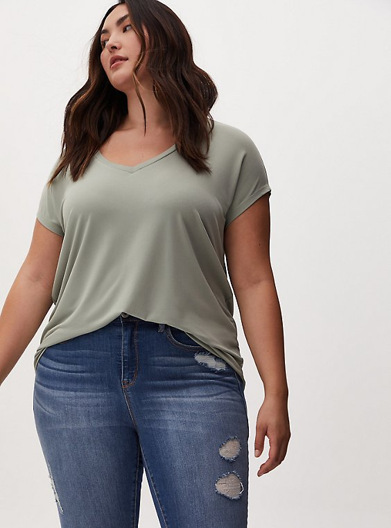 Sage Green Studio Knit Dolman Tee, , hi-res