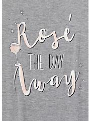 Rosé The Day Heather Grey Cami Sleep Tunic, GREY, alternate