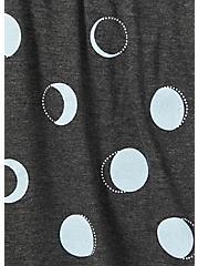 Charcoal Grey Jersey Moon Print Sleep Short, MULTI, alternate