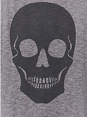 Skull Slub Jersey Sleep Tank - Heather Grey, GREY, alternate