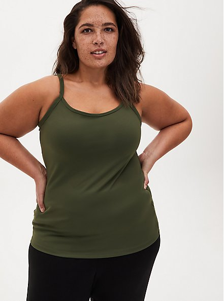 Olive Green Wicking Active Cami, OLIVE, alternate