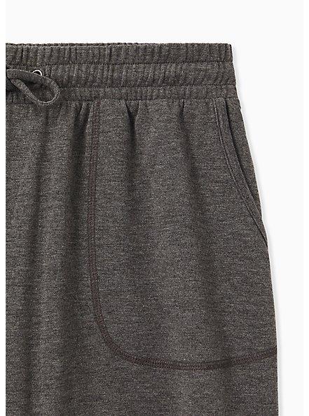Charcoal Grey Terry Drawstring Active Mid Short, GREY, alternate