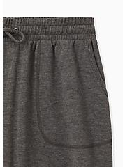Charcoal Grey Terry Drawstring Active Mid Short, GREY, alternate