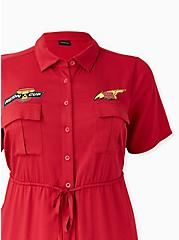 Disney Pixar Cars Lightning McQueen Drawstring Shirt Dress , JESTER RED, alternate