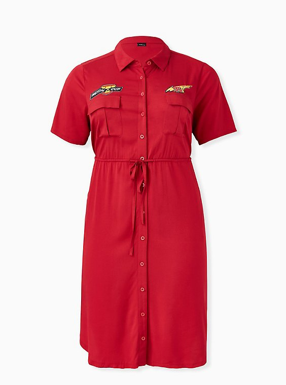 Disney Pixar Cars Lightning McQueen Drawstring Shirt Dress , , hi-res