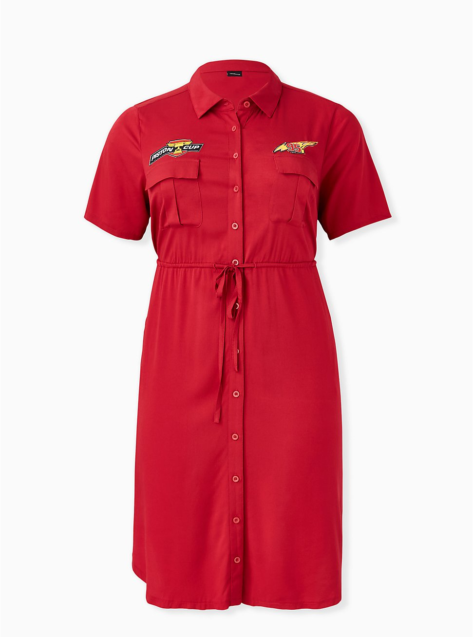 Disney Pixar Cars Lightning McQueen Drawstring Shirt Dress , JESTER RED, hi-res