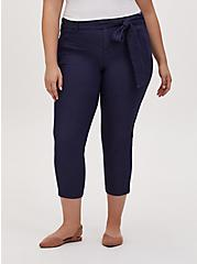 Crop Self Tie Utility Pant – Twill Navy, PEACOAT, hi-res