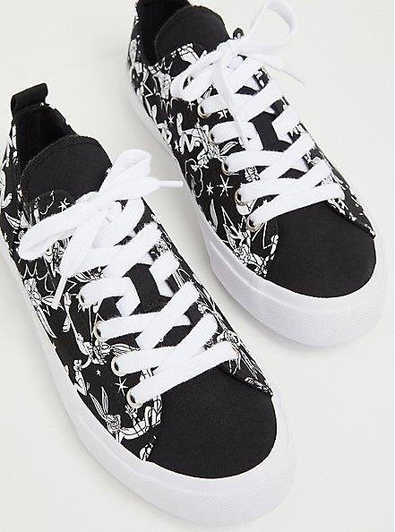 Looney Tunes Bugs Bunny Black & White Canvas Sneaker (WW), BLACK, alternate