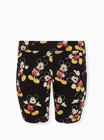 Plus Size Disney Mickey Mouse Black Bike Short, , hi-res