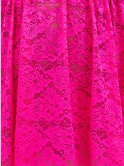 Neon Pink Lace Babydoll, PINK GLO, alternate