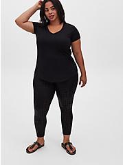 Premium Legging - Mermaid Scale Black, BLACK, hi-res