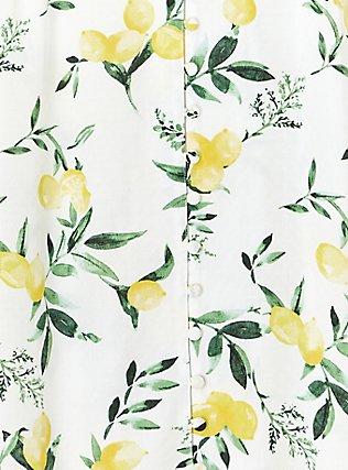 Harper - White Lemon Print Button Front Blouse , LEMONY SUMMER, alternate