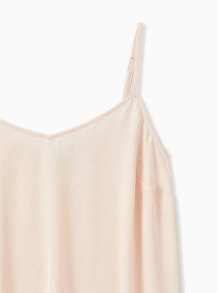 Sophie - Light Pink Textured Charmeuse  Swing Cami, PEACH BLUSH, alternate