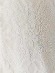 White Lace & Crochet Button Front Dress, CLOUD DANCER, alternate