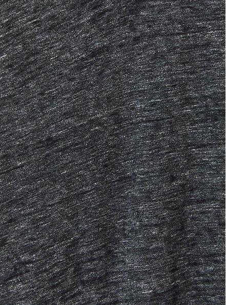 Classic Fit V-Neck Tee - Vintage Burnout Black, DEEP BLACK, alternate