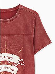 Harry Potter Wand Chooses The Wizard Mineral Wash Red Top, BIKING RED, alternate