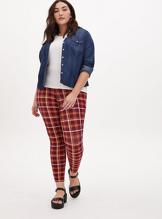 Harry Potter Hogwarts Red Plaid Legging, , hi-res