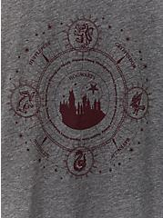 Harry Potter Celestial Burgundy Purple Raglan Sleep Top, HEATHER GREY, alternate