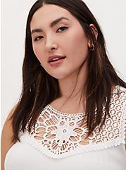 Super Soft White Crochet Inset Tunic Tank, CLOUD DANCER, alternate