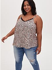 Sophie - Leopard Satin Charmeuse Swing Cami , CHEE LEOPARD, hi-res