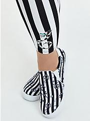 Beetlejuice Black & White Stripe Crop Legging, BLACK WHITE STRIPE, alternate