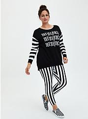 Beetlejuice Crop Legging - Stripe Black & White, BLACK WHITE STRIPE, alternate