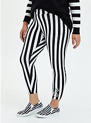 Beetlejuice Crop Legging - Stripe Black & White, BLACK WHITE STRIPE, hi-res