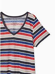 V-Neck Tee - Triblend Burnout Stripe Multi, STRIPE - MULTI, alternate