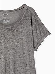 Plus Size Relaxed Fit Crew Tee - Vintage Burnout Grey, HEATHER GREY, alternate
