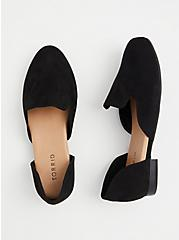 Black Faux Suede D'Orsay Loafer (WW), BLACK, alternate