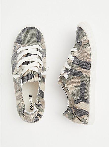 Riley - Camo Ruched Sneaker (WW), CAMO, alternate